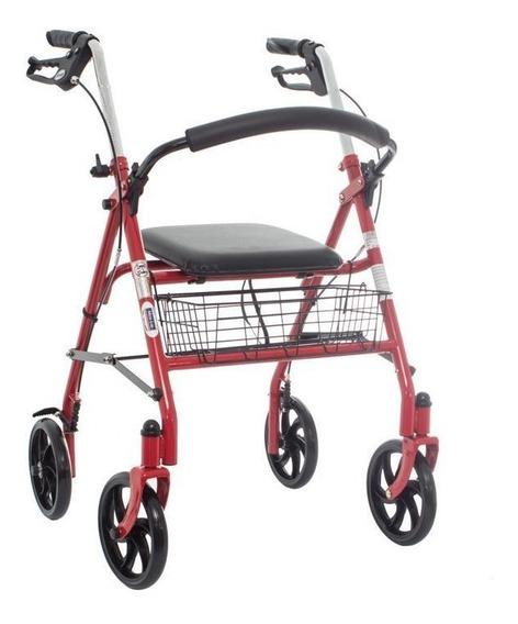 Andadera Rollator De Acero Con Canasta 136kg - Drive