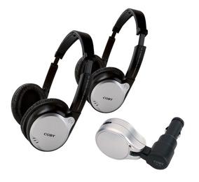 Kit Veicular Transmissor 2 Fones De Ouvidos Sem Fio Coby