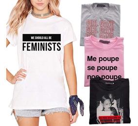Camiseta Me Poupe Blusinha De Frio Marquezine Feminist Top