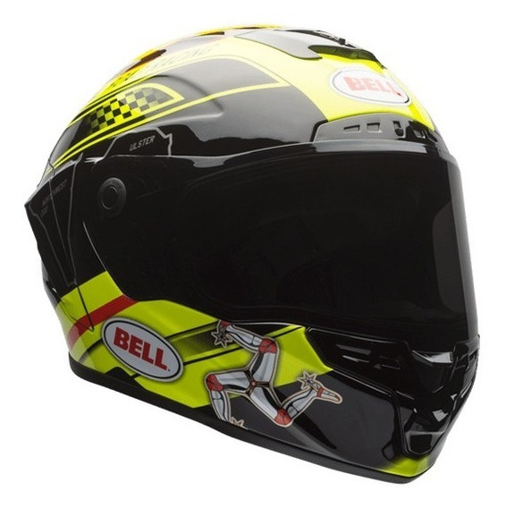 Capacete Bell Star Isle Of Man Black/yellow