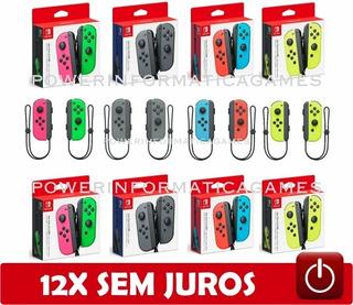 Controle Nintendo Switch Joy-con (r/l) Varias Cores Novo Par