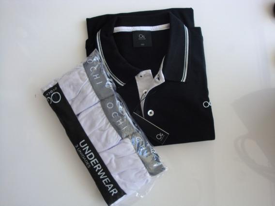 Camisa Polo Ogochi Original+ Kit 3 Cuecas