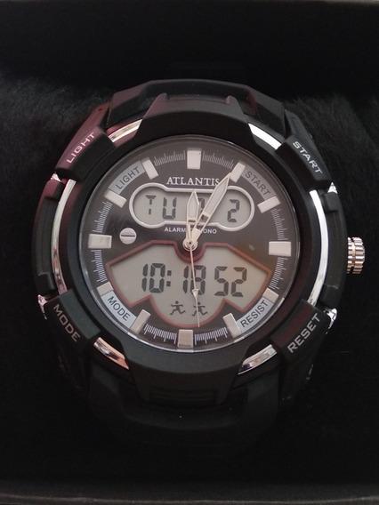 Relógio Atlantis Masc,sport Mod.g-5515 Original