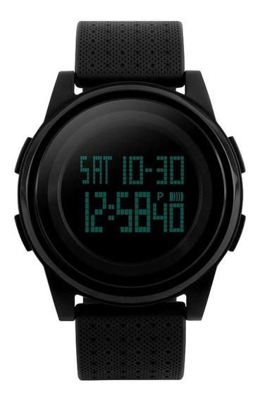 Relógio Skmei Preto 1206 Slim Original Com Garantia E Nota