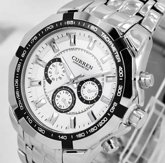 Relógio Masculino Curren 8084 Luxo Original Modelo Exclusivo