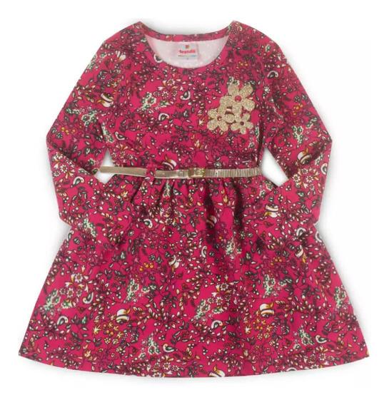 Vestido Infantil Floral Off White - Brandili Tam 3
