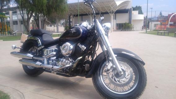 V Star 650 - 07, Azul Con Negro Chopper Comoda Y Economica
