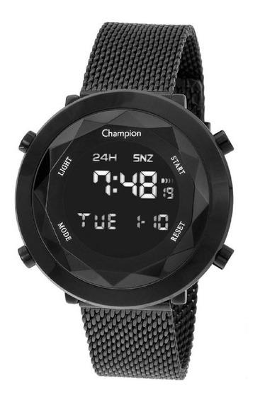 Relógio Champion Feminino Digital Ch48028d Preto Lançamento