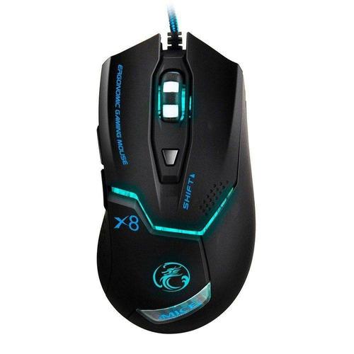 Mouse Gamer Estone X8 2400dpi Ergonomic Led Blue
