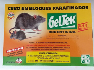 Geltek Raticida En Bloques 2 Cajas De(10 Blisters X 100gms)