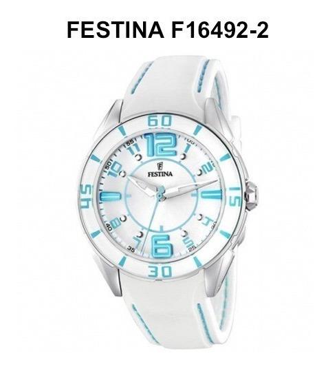 Reloj Para Mujer Dama Festina Suizo Analogo Cuarzo F16492-2