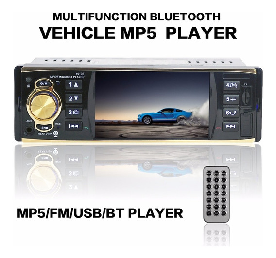 Leitor De Vídeo De Áudio Do Carro Bluetooth Estéreo Mp5 4.1