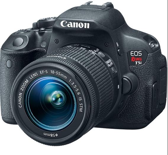 Canon T5i + Lente 18-135+lente 50mm + Bolsa+lentes+kit Clean