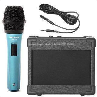 Combo Karaoke Microfono + Cable + Parlante Portatil