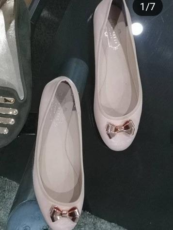 Zapatos Zapatilla Cerradas Dorada Nude Ted Baker 39