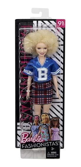 Boneca Barbie Fashionistas Varsity Plaiditud Albina