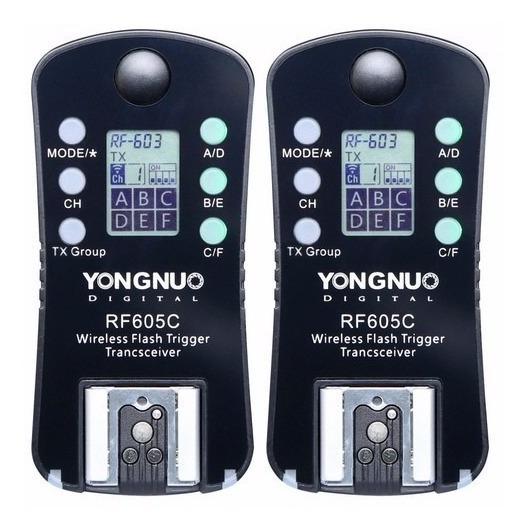 Radio Flash Yongnuo Rf605c Para Canon T5i T6i 60d 70d 5d 7d