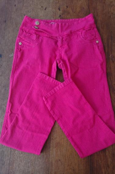 Pantalon Jeans Fucsia Talla S