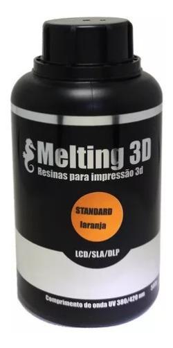 Resina Melting 3d - Laranja Translúcida - Standard