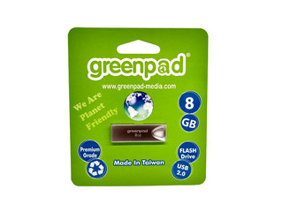 Memoria Usb 8gb Greenpad Metalica 2.0 Flash Drive Envío Gts