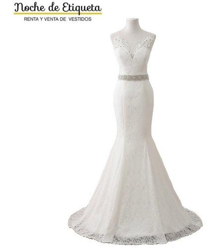 Vestido De Novia Nuevo Corte Sirena Encaje Blanco/marfil
