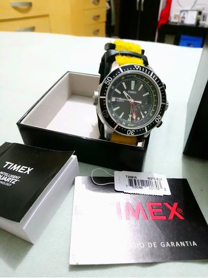 Relógio Timex T2n810 Com Profundimetro E Marcador Temperatur