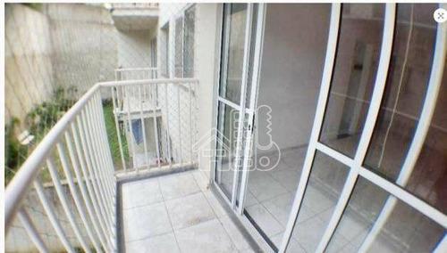 Apartamento Com 2 Dormitórios À Venda, 55 M² Por R$ 190.000,00 - Sape - Niterói/rj - Ap2424