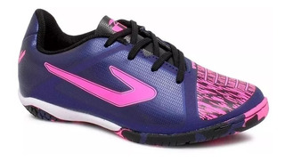 Tenis Futsal Topper Velocity Extreme - Roxo/rosa