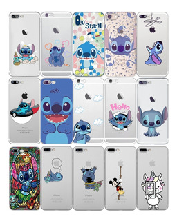 Funda Stitch Para iPhone Silicón