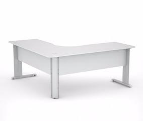 Mesa Em L De Escritório Office 120x120 - Várias Cores