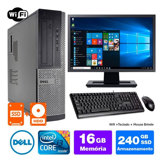 Pc Usado Dell Optiplex Int I3 2g 16gb Ssd240+1tb Mon19w