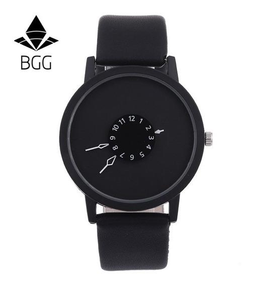 Relógio Unisex Bgg Elegante Pulseira De Couro-frete Gràtis