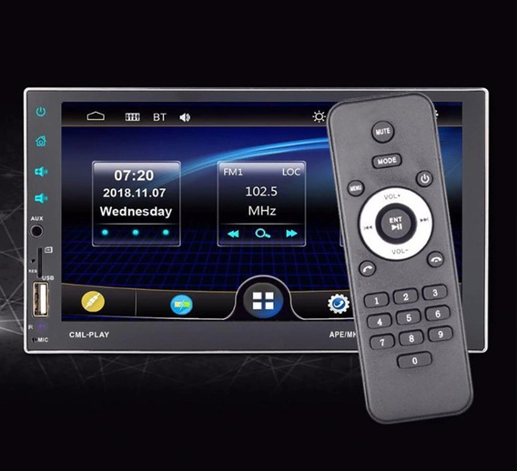 Central Multimídia Universal Mp5 2 Din Bluetooth Sd Usb Nova