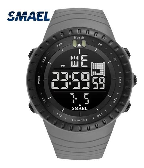 Relógio Smael 1237 Verde Militar Esportivo A Prova D