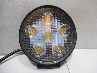Faro Redondo Con Base 6leds X 3w 18w 118*118*35mm Sp