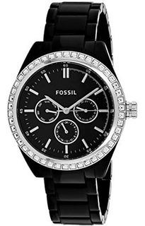 Reloj Fossil Bq1192 Dama Calendario Acero Nuevo Caja Garanti