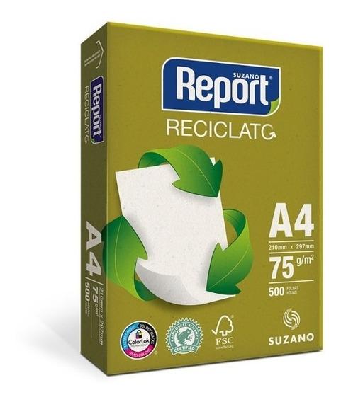 Papel A4 Reciclado Reciclato Report