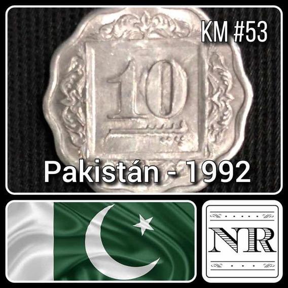 Pakistan - 10 Paisa - Año 1992 - Forma Alveolada - Km #53