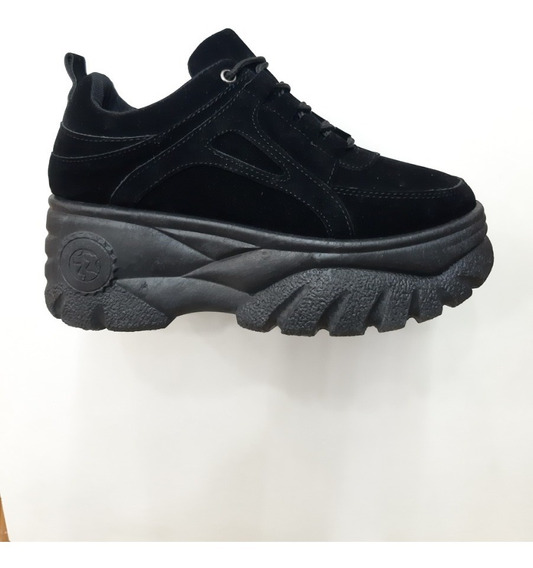Zapatillas De Dama Estilo Monster 2 Colores Blanco Y Negro