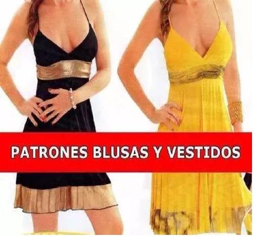 Kit Imprimible Moldes Y Patrones De Vestidos Y Blusas