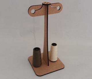 Porta Fio Suporte Linha 2 Cones Máquinas De Costura