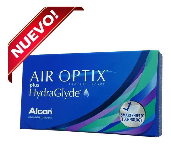 Lentes De Contacto Air Optix Hydraglyde 6 Pzas Mensual