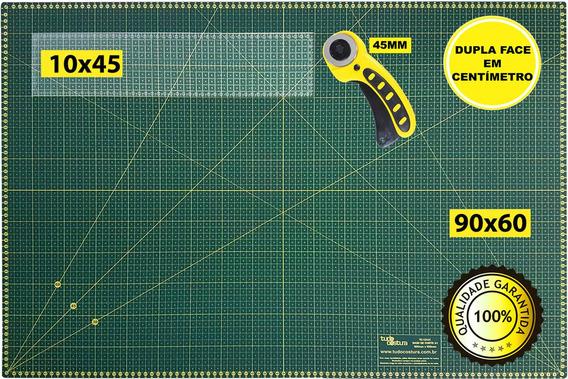 Base Corte A1 90x60 Régua Laser 10x45 E Cortador Patchwork