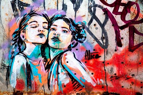 Poster Foto Grafite 65x100cm Decoração Street Arte