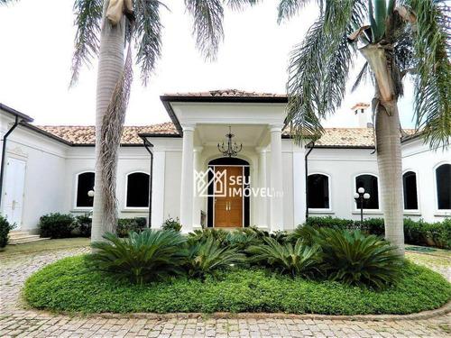 Casa Com 3 Dormitórios À Venda, 1420 M² Por R$ 8.000.000,00 - Fazenda Vila Real De Itu - Itu/sp - Ca1961