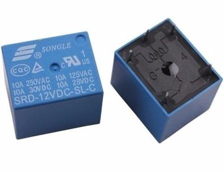 Relê 12v 10a - 5 Terminais Arduino 10 Unidades