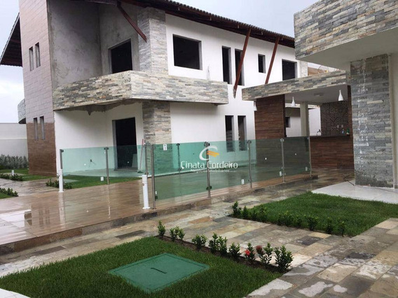 Casa Com 3 Dormitórios À Venda, 145 M² Por R$ 490.000,00 - Camboinha - Cabedelo/pb - Ca0021