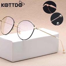 10d6a21a3 Armação Óculos Vintage Redondo Feminino Retro C Pérolas +cap. 3 cores