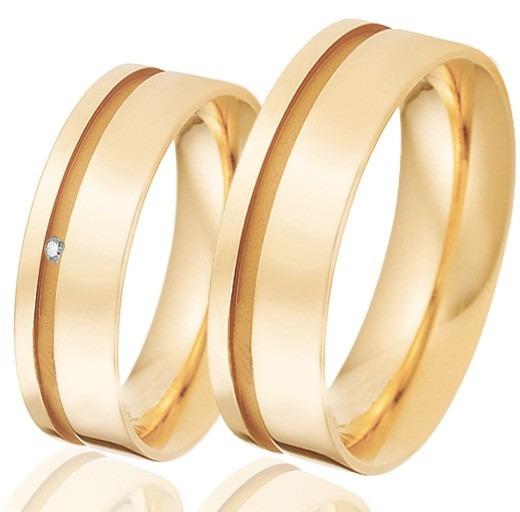 Alianças Com 12gramas Ouro 18k 7mm Retas Alianças Diamante