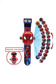 Relógio Brinquedo Infantil Spider Aranha Projeta 24 Imagens